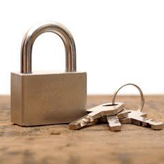 Een hangslot, ouderwets veilig en vertrouwd